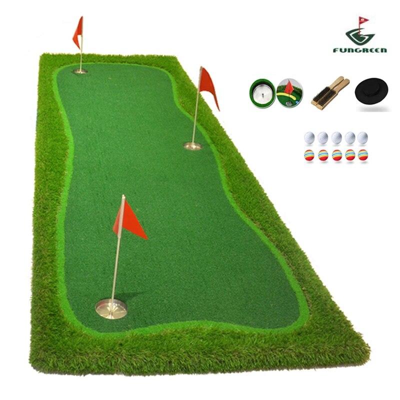fungreen 3x9 pi interieur et exterieur golf mettre vert pratique gazon mettre tapis golf entrainement vert avec cadeau gratuit