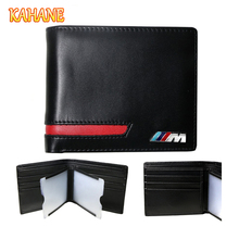 KAHANE Genuine Leather Men Wallet Car Driver License Holder Credit Card Wallet For BMW E46 E60
