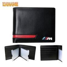 KAHANE Hombres Del Cuero Genuino Cartera de Tarjeta de Crédito Titular de la Cartera de Licencias de Conducir de Coche para BMW E91 E39 E46 E60 E64 E90 F10 F10 F20 F30