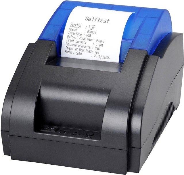 58 мм Термопринтер Портативный Билет POS Принтер Высокое Качество термопринтер скорость печати Быстро