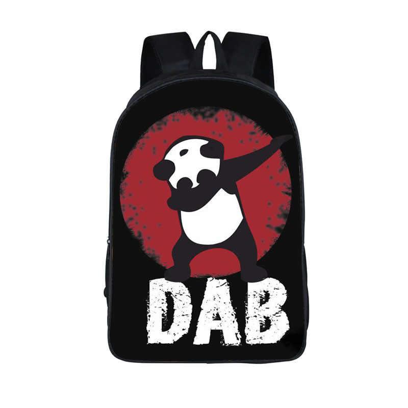 Для подростков Обувь для мальчиков DAB на EM Дети Книга сумка забавные dab панда Единорог рюкзак детей Школьные ранцы мне Для женщин хип-хоп рюкзаки сумка подарок