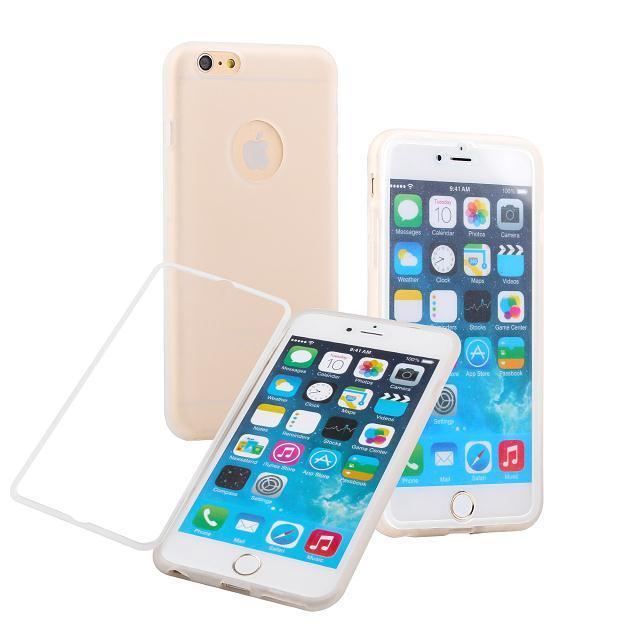 Transparent Hybrid Soft Silicone TPU Wrap Flip Case Back Cover Built Screen Protectorfor iphone 6 6S Plus - Magic Box's store