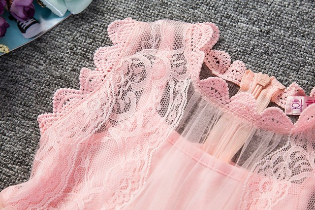 Baby Girl Floral Lace Princess Tutu Dress Wedding Christening Gown Dress Girls Clothes For Kids Party Wear Meninas Vestidos 2 6Y 4