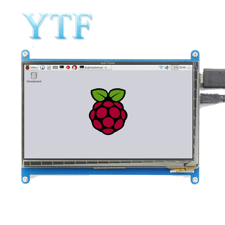 7 inch LCD capacitive touch display HDMI <font><b>Raspberry</b></font> <font><b>Pi</b></font> <font><b>4B</b></font> 2 3 B + plus <font><b>screen</b></font> 1024X600 image