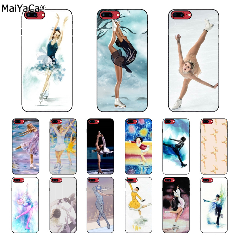 MaiYaCa Figure skating and Ice Skating New Personalized Soft Cover Case for Apple iPhone 5 5S SE 6 6S Plus 7 8 X XS MAX XR