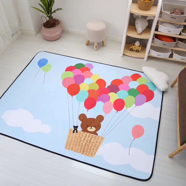 Fresh 150X200CM Bear Balloon Carpet Kids Room Home Carpets For Living Room Soft Rugs For Bedroom Children Ideas - Cool rug for bedroom Photos