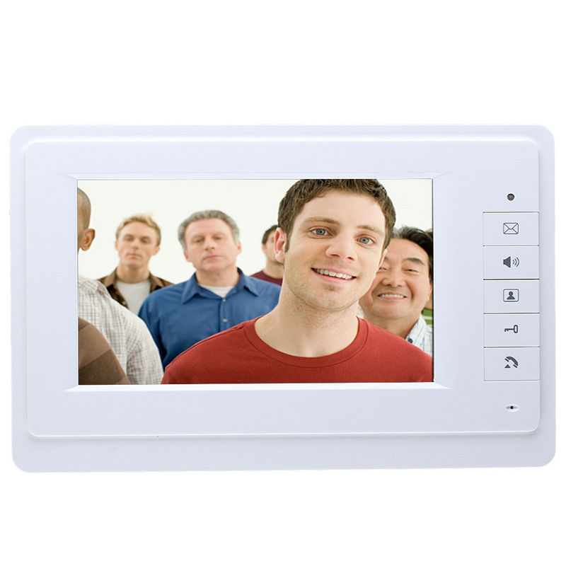 YobangSecurity 7 LCD Wired Video Intercom Doorbell System Video Door Phone Bell Kit,Unlock,Dual-way Intercom 1 Camera 3 Monitor