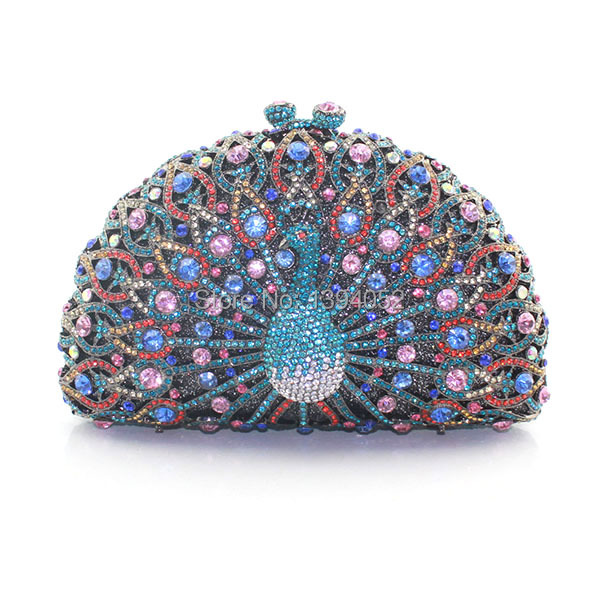 Multi-Color Exquisite Ladies Peacock Crystal bag Crystal Clutch Purse Fashion Designer Peacock Evening Bag кресло pp550 peacock