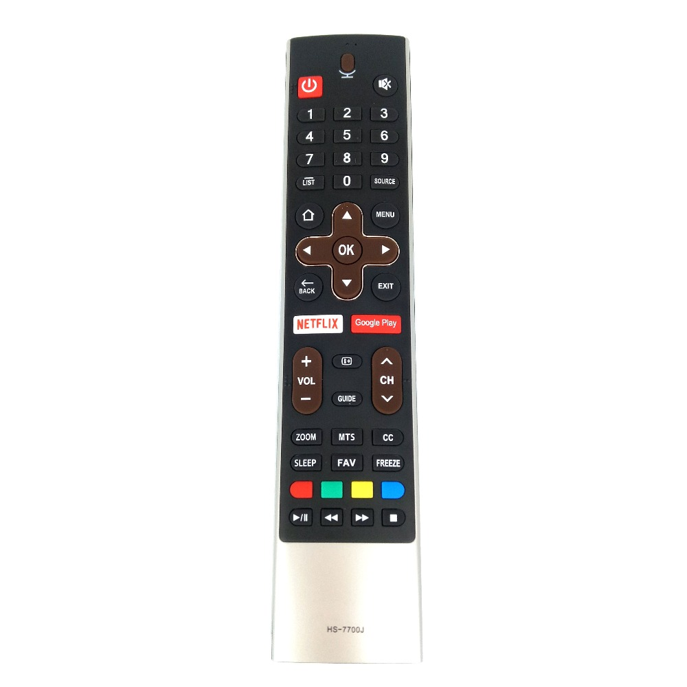 New Original HS-7700J For Skyworth TV Remote Control Voice Netflix Google Play Fernbedienung