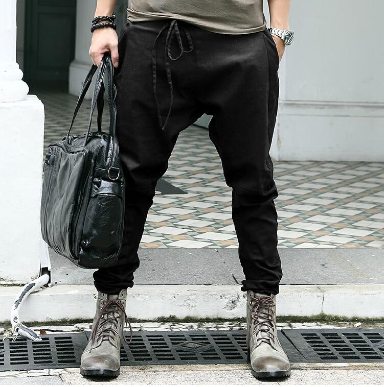 army Mode Green Unique Harem Gratuite Livraison Taille Pantalon Costumes Casual Slim Noir Corde 2016 Nouvelle De Automne Chanteur Hommes qTPOPYU