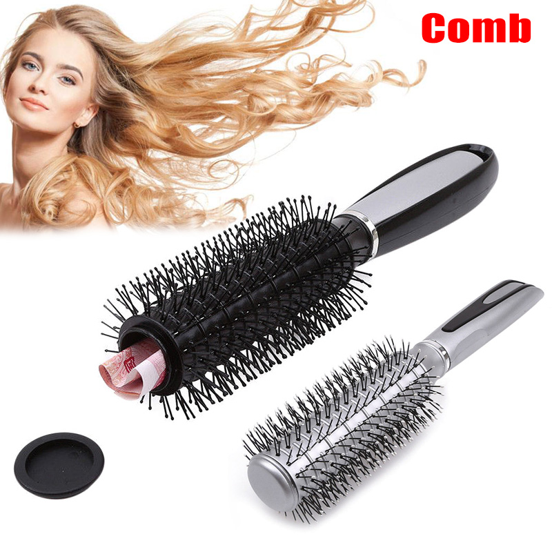 1 Pcs Real Hair Brush Money Jewelry Diversion Can Safe Stash Secret Container Box HY99 NO29