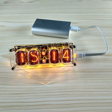 4 BitแบบบูรณาการหลอดเรืองแสงนาฬิกาIN 12A IN 12BนาฬิกาเรืองแสงหลอดLED DS3231 Nixie Clock Magic Eye LED backlight