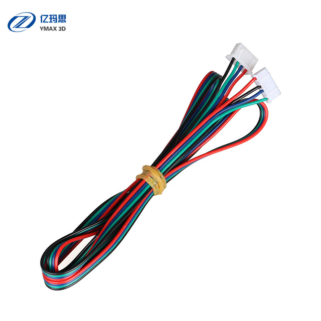 5pcs XH2.54 1 Meter Dupont Cable 4 pin Stepper Motor Wire Part Female to Female Black White Terminal Line 3D Printers Parts