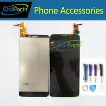 Ограниченное предложение 1 шт./лот для Alcatel One Touch Idol X OT 6040 6040A 6040D 6040X OT6040 ЖК-дисплей Дисплей + Сенсорный экран в сборе с инструменты Черный Цвет