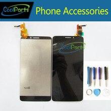 Черный/белый Цвет ЖК-дисплей Дисплей + Сенсорный экран для Alcatel One Touch Idol X OT6040 OT 6040 6040A 6040D 6040X с инструментами 1 шт./лот