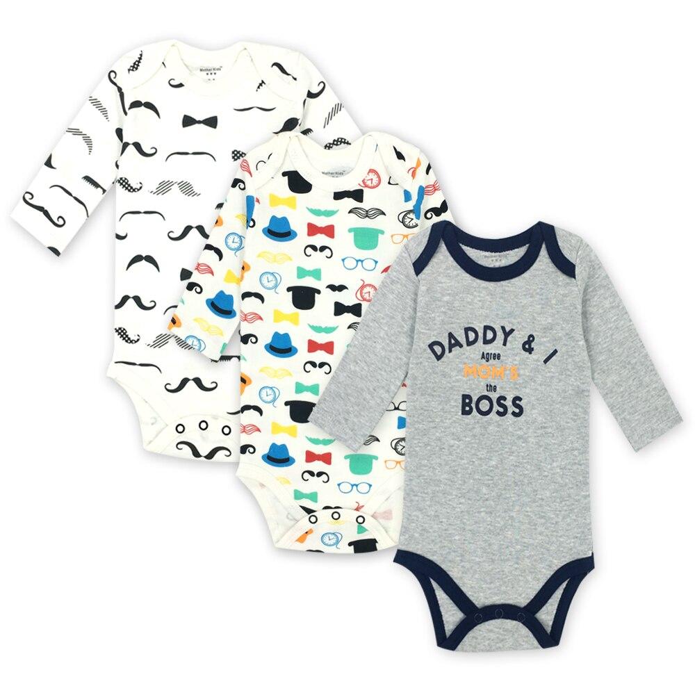 Best buy ) }}Bodysuits Cotton Toddler Boy Jumpsuit Newborn Clothes Long Sleeve Infant Winter Baby Bodysuit Set