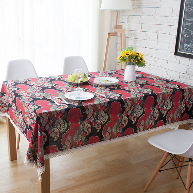 Japanese Table Cloth Fans Printed Table Cover National Style Vintage Home Decor Dining Table Set Various & Japanese Table Cloth Fans Printed Table Cover National Style Vintage ...