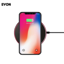EYON Fast Charger Qi Wireless Fast Charging Transmitter Pad For SAMSUNG Galaxy S8 Plus S7 S6 Edge+ Note 8 Note 5 For iPhone X 8