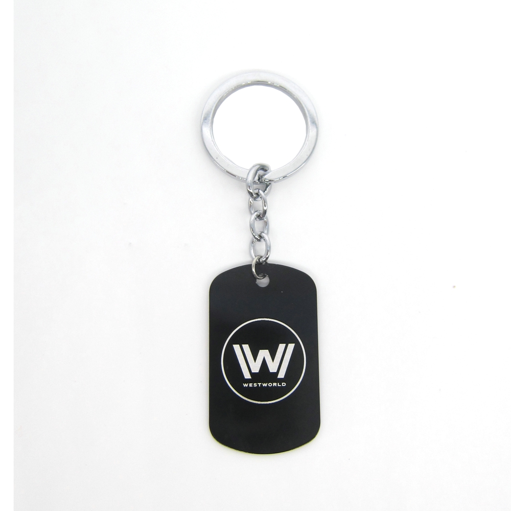 New Westworld Keychains Hot TV Series Logo Fashion Jewelry Dog Tag Black Metal Keyring P ...