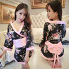 Hot Sexy Lingerie Japan Kimono With Bow Women Nightwear Sexy Sleepwear