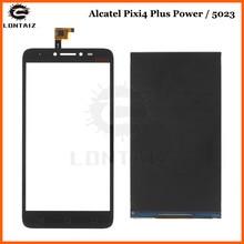 High Quality LCD For Alcatel One Touch Pixi 4 Plus Power 5023F 5023 OT 5023 OT5023E 5023F LCD Display смартфон alcatel pixi power 5023f pure white