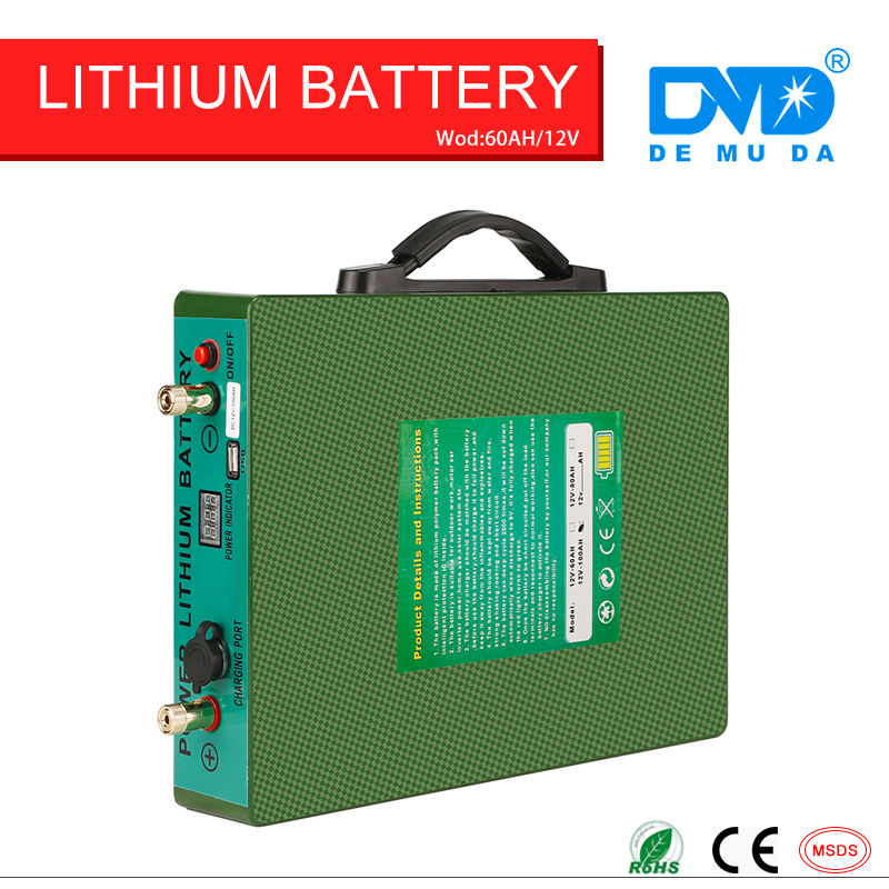 12 v 60ah battery 18650 rechargeable Li ion power inverter with CE&RoHS approved