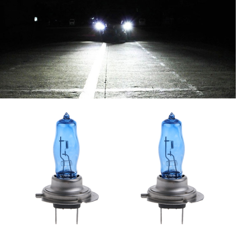 1 Pair H7 55W 12V HOD Xenon White 6000k Halogen Car Head Light Globe Bulb Lamp 2pcs h11 h8 h9 55w 12v xenon white 6000k halogen car head light globes bulbs lamp h11 hod xenon light free shipping