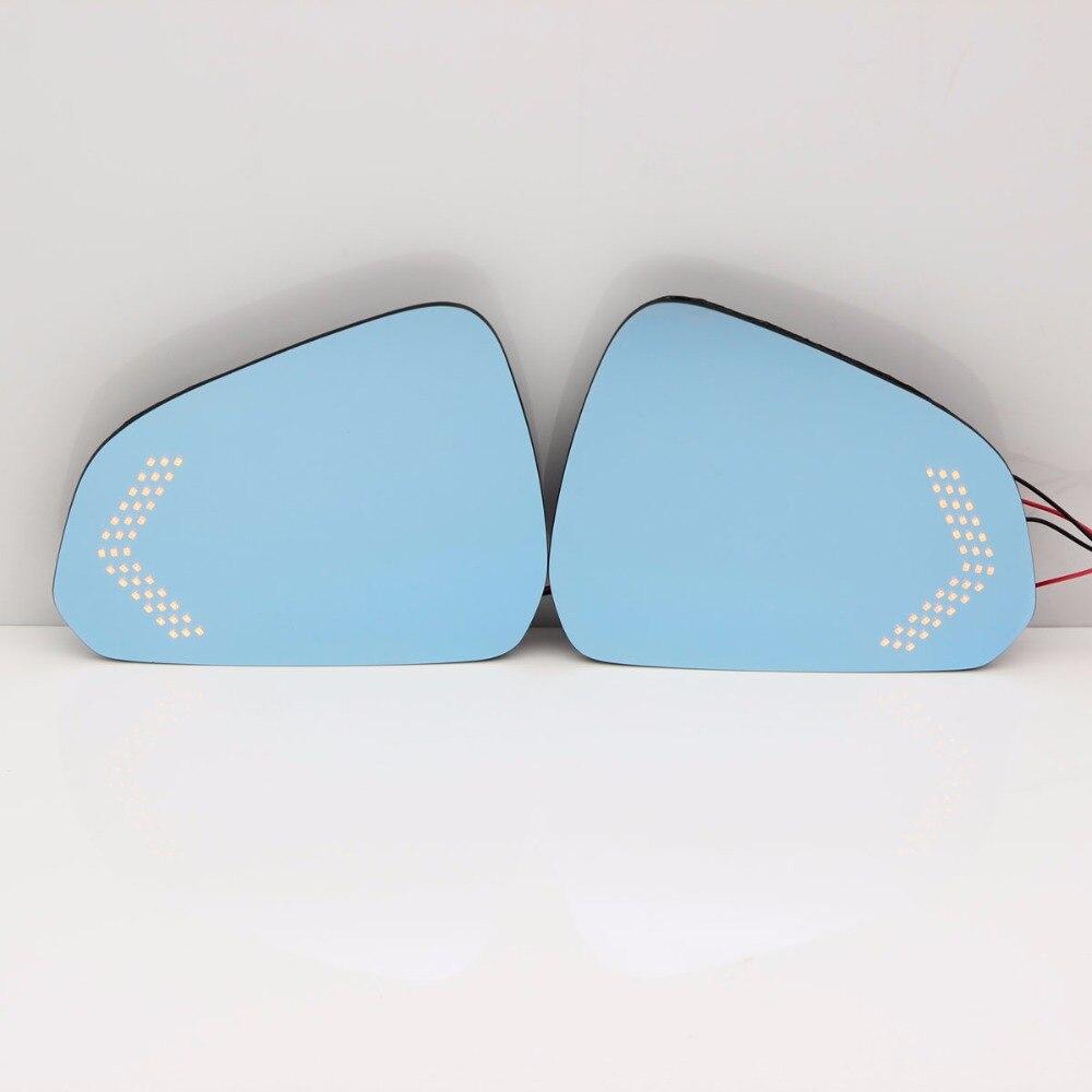 Синий зеркало автомобиля сбоку Зеркала блики доказательство зеркало привело Включите Сигнальные лампы с подогревом Зеркало заднего вида о