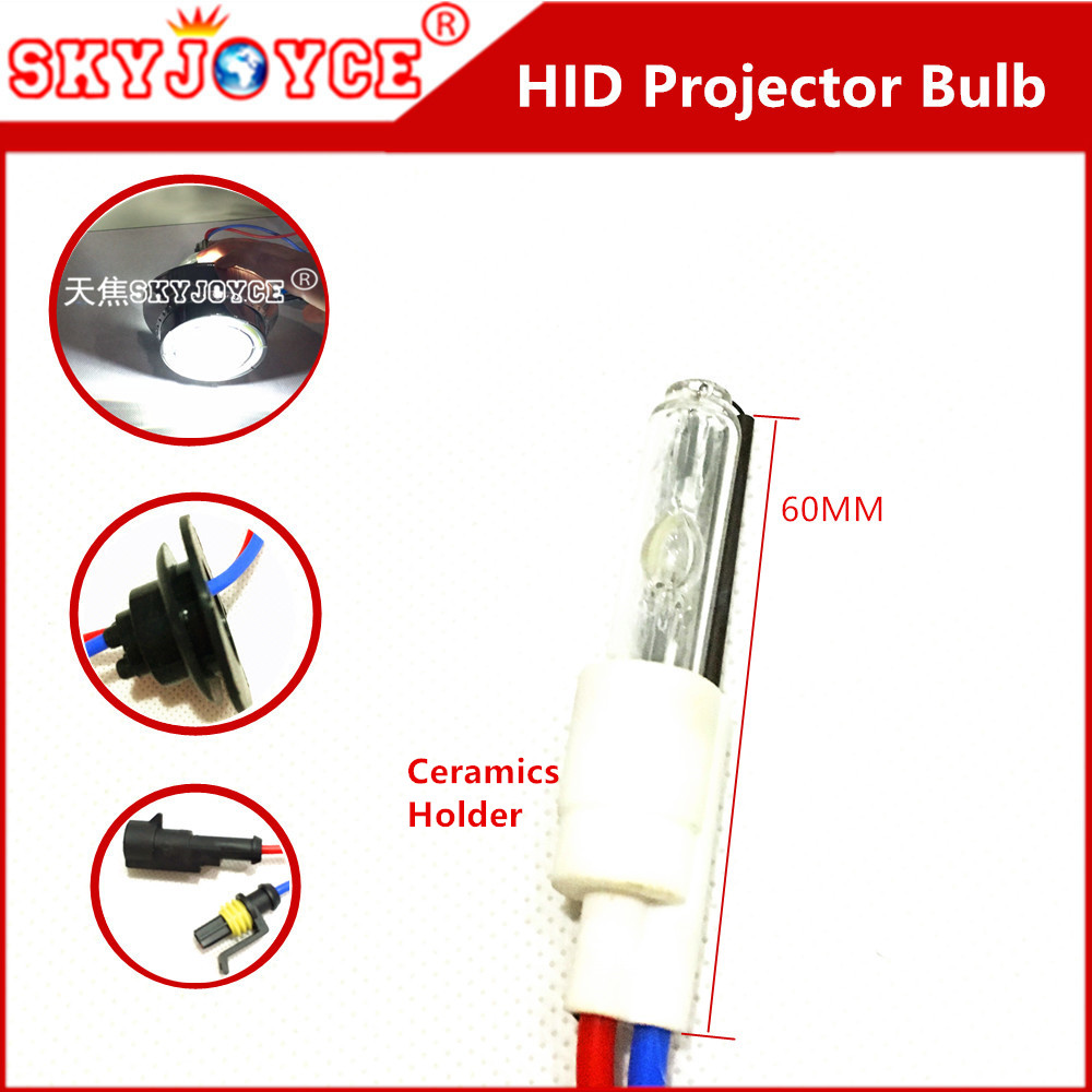 2 x AC replace 35W xenon hid projector bulb motorcycle headlight accessory 3000K 4300K 5000K 6000K 8000K hid projector lens bulb rectangular 4x6 inch 5d led headlight bulb replace hid xenon h4651 h4652 h4656 h4666 h6545 projector for peterbilt kenworth