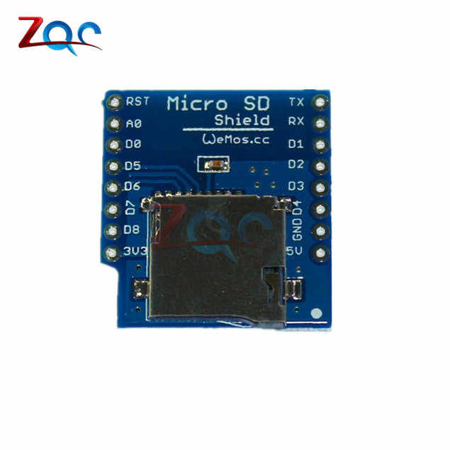 Micro SD Card Shield for WeMos D1 Mini WiFi ESP8266 TF Memorry Storage Card  Module With Pins for Arduino