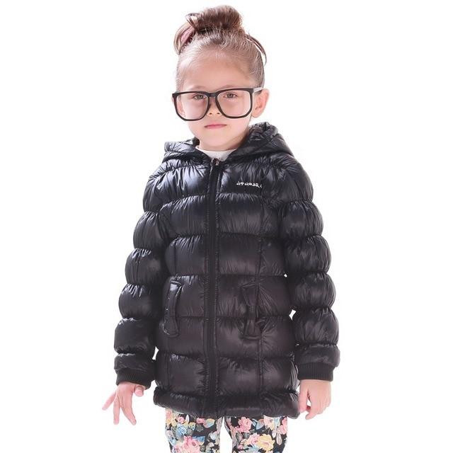 бесплатная доставка детская зимная одежда девочек верхней одежды пуховик ребенка вниз пуховик с капюшоном принцесса девочки теплая одежда зимняя куртка