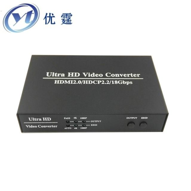 Ultra hd de vídeo scaler hdmi para hdmi digital escalar apoio hdmi2.0/hdcp2.2 para hdmi1.3/hdcp1.4 4 k para 1080 p e 1080 p 4 k