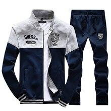 2017 trainingsanzüge herren Sportswear Sets Jacken + hosen Mens Hoodies und Sweatshirts Anzüge Plus Größe 4XL X270