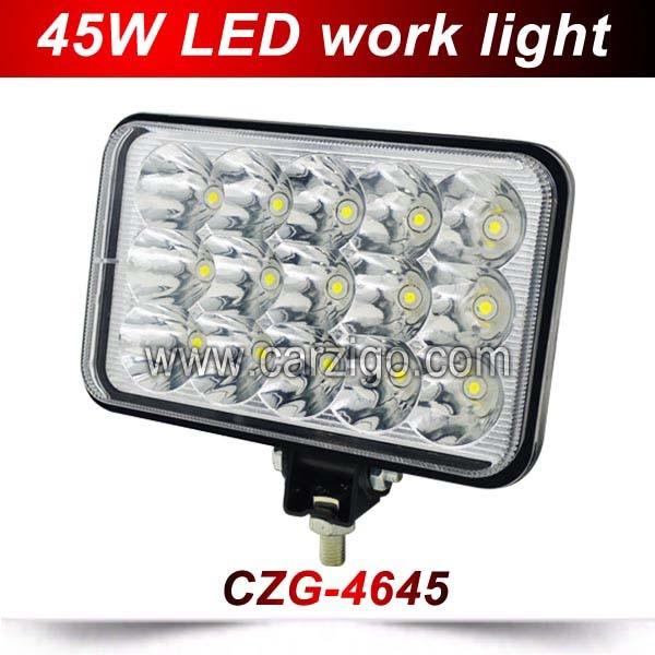ФОТО CZG-4645 Factory price 4X4 Off-road vehicle LED driving light DC12V 24V auto 4x6inch LED work lamp LED headlights 45w hi/lo beam