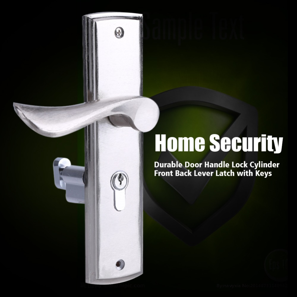 Home Security Ratings >> Durable Lock Handle Door Lock Cylinder Front Back Lever Latch Home Security with Keys Fechadura ...