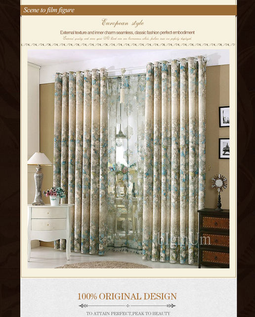 Online Shop New Styles! Luxury Window Curtains For Living Room ...