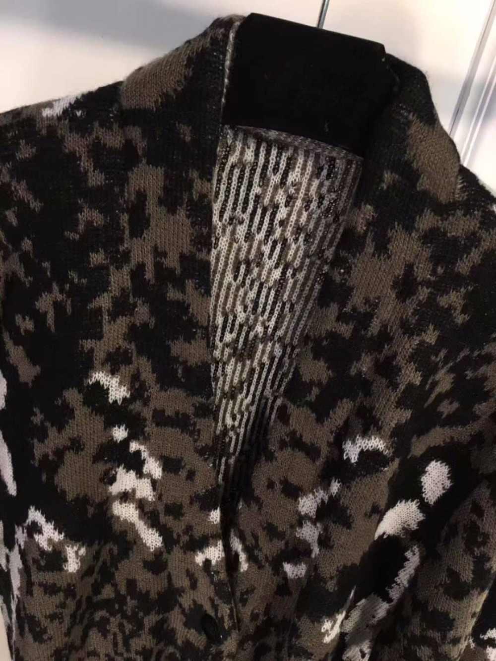 2018 ฤดูหนาวใหม่ silm ป่าหญิง cardigan vadim แฟชั่นเสือดาว jacquard เสื้อกันหนาวถัก streetwwar glamour ผู้หญิง top femme