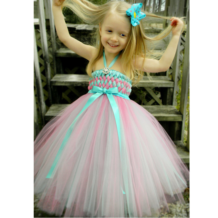 Luxurious Princess Flower Girl Dress Children Performance Full Dress Manual Weave Thick And Disorderly DressLuxurious Princess Flower Girl Dress Children Performance Full Dress Manual Weave Thick And Disorderly Dress