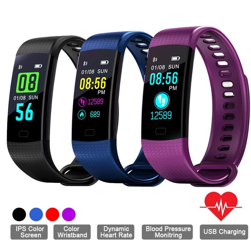 TapicRay Smart Armband Y5 Smart Band Fitness Schlaf Tracker Farbe Bildschirm Pulsometer Herz Rate Aktivität Armband PK mi Band 3 2
