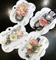 Korea Cloth Flower Crown Hair Accessories Pearl Hair Bows Rim Hairpin Hair Clips For Women Headbands For Girls Barrette -4