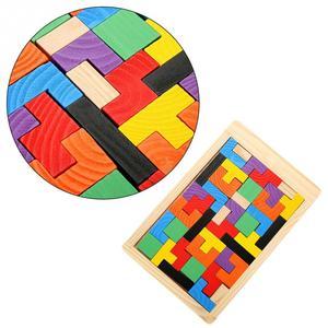 Image 3 - 3D ahşap yapbozlar Tangram Jigsaw kurulu oyuncaklar zeka çocuk bulmacaları oyuncak oyunu eğitici bebek oyuncakları ahşap hediyeler