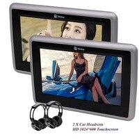 Paar Portable Digitale HD TFT LCD CD Hoofdsteun Dvd-spelers auto Hoofdsteun Monitoren met HDMI en IR Hoofdtelefoon voor alle voertuig auto
