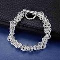 De lujo de plata 925 pulsera de la serpiente para hombres mujeres pulsera de cadena de plata pura al por mayor de múltiples capas de la pulsera de cadena de la manera mujeres de los hombres