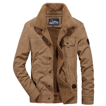 Military Brand AFS JEEP Parka Men Clothes 2018 Army Uniform Tactical Turn down collar Thicken Fleece