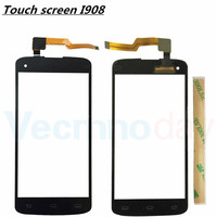 New For Philips Xenium I908 I908 Touch Screen Sensor Front Glass Panel Replacement Digitizer Parts 100