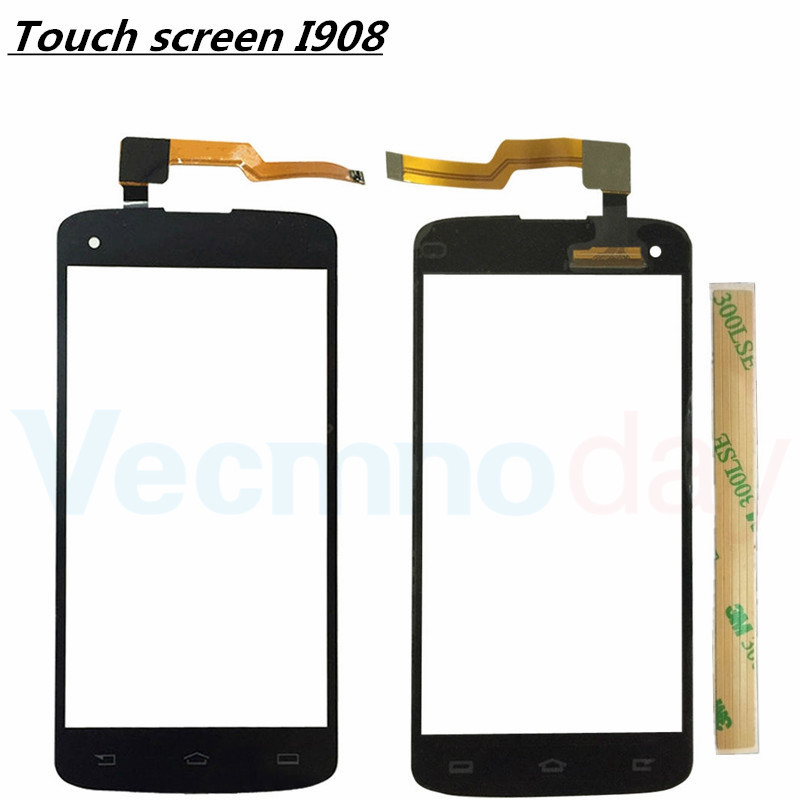 New For Philips Xenium I908 i908 Touch Screen Sensor Front Glass Panel Replacement Digitizer Parts 100% Tested
