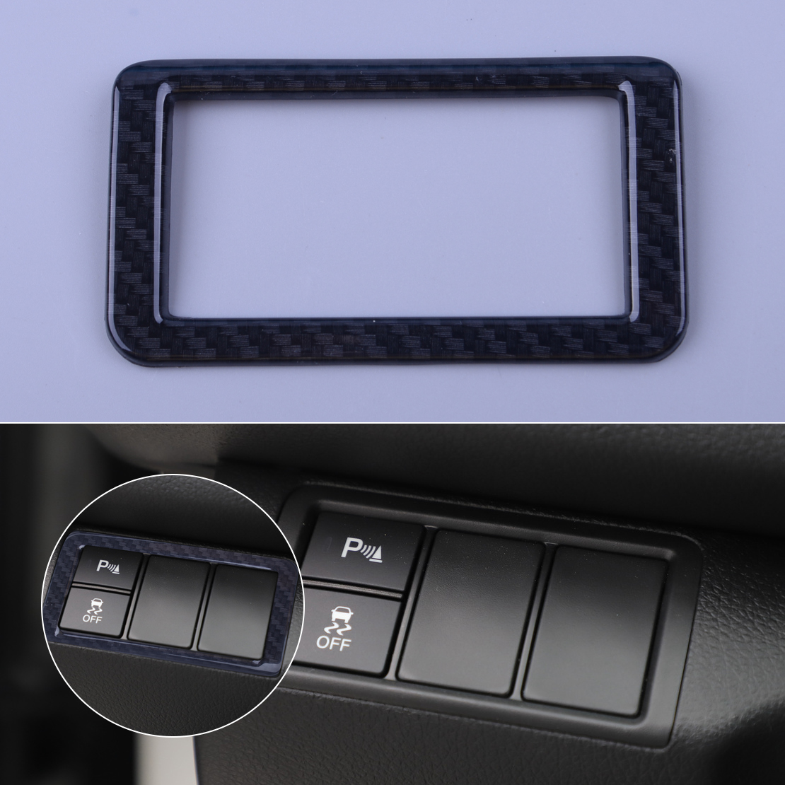 Exterior Parts Inner Head Light Lamp Button Cover Trim For Honda Civic 10th Gen 2016 2017 Excellent Quality