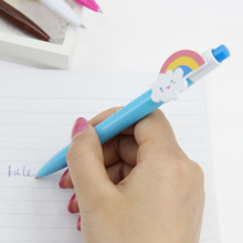 mix 6 pcs Cute Cartoon Kawaii Novelty Ballpoint Pens Lovely Cat Bird Ball Pen Korean Stationery стоимость