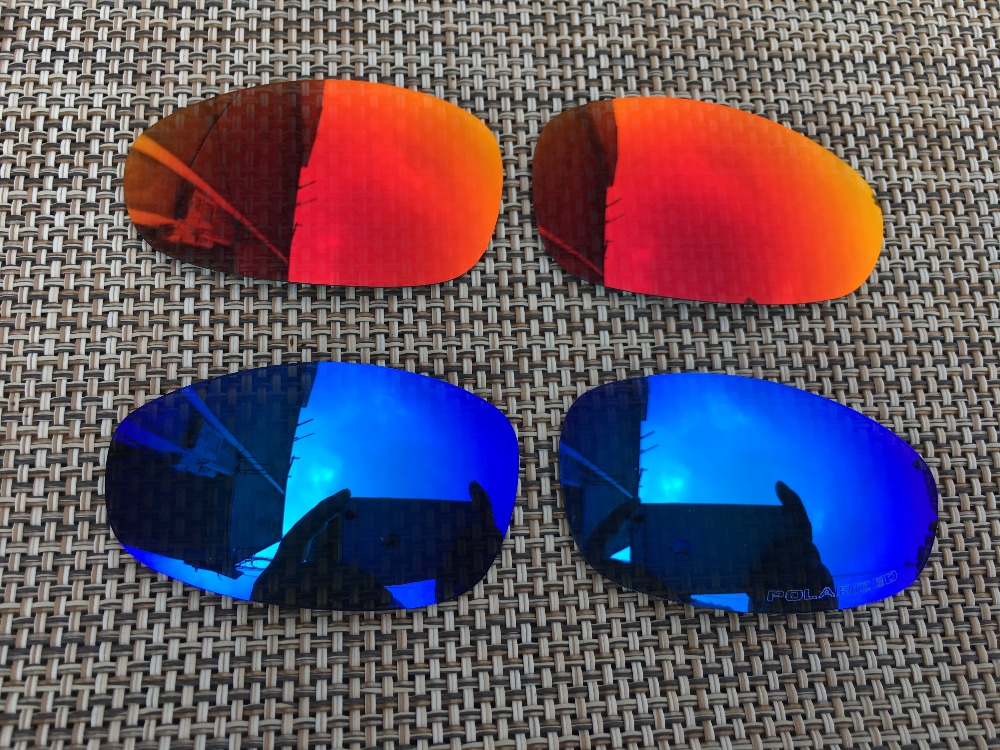Apparel Accessories Eyewear Accessories Clever 2pairs Silver & 24k Gold Polarized Replacement Lenses For Flak Jacket Xlj Sunglasses