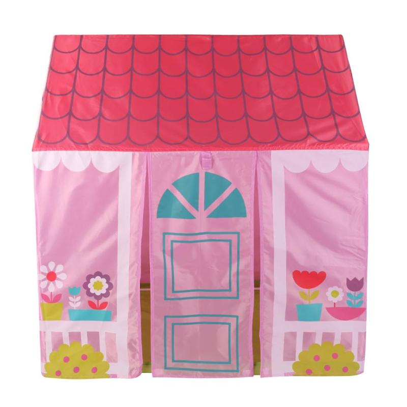 Portable Kids Tent House Garden Ball Pool Tents Toy Outdoor Indoor Children Playing House Gifts for Little Girl Princess Pink
